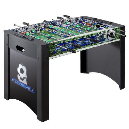 Hathaway Playoff 4 Foosball Table, Soccer Game for Kids and Adults with Ergonomic Handles, Analog Scoring and Leg Levelers