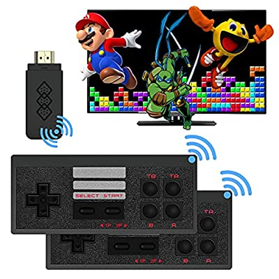 CICYSTORE Retro Game Console with 818 Retro Video Games, HDMI HD Output NES Retro Game Console Wireless, Old Arcade Plug and Play Video Games Console is an Ideal Gift Choice for Children and Adults by CICYSTORE