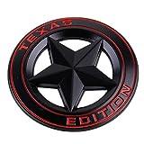 rosso Texas Edition Star metallo cromato emblema decalcomania