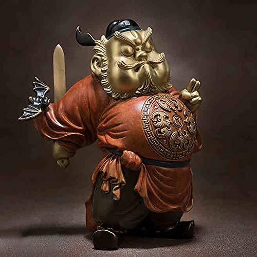HQQ Maestro Bronce All-Bronce Adornos Zhong Kui envía bendiciones Decoraciones de Decoraciones de artesanías domiciliarias