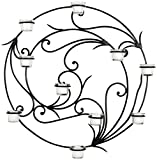 Safavieh Wall Art Collection Circular Candle Holder Wall Sconce