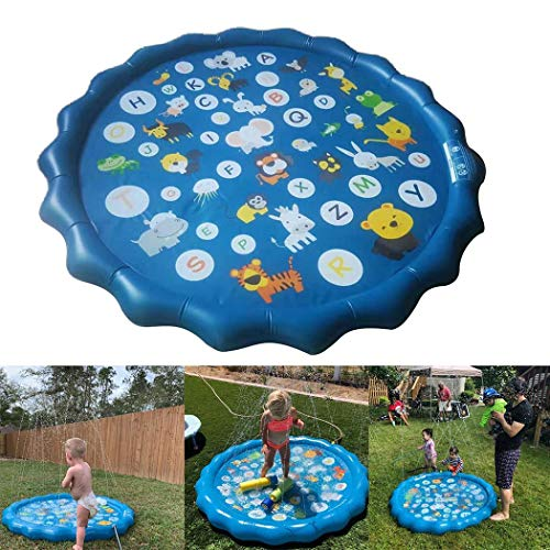 Affordable Goodfans 170x170cm Outdoor Game Spray Water Cushion Baby Kids Play Water Mat Lawn Sprinkl...