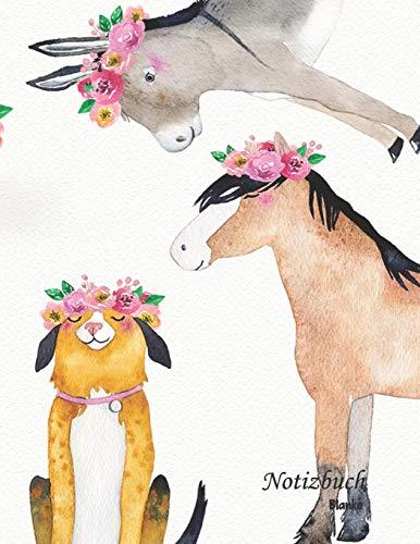 Notizbuch blanko: Meine tierischen Freunde - A4 Format | 112 Seiten | Notizbuch mit Register |ideal als Tagebuch, Skizzenbuch, Sketchbook, Zeichenbuch oder leeres Malbuch
