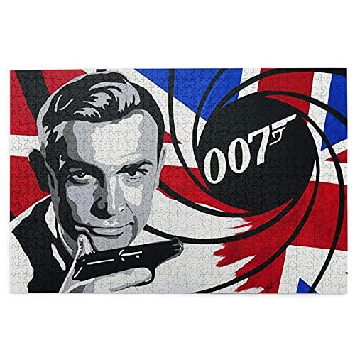 007 James Bond Sean Connery Puzzle Puzzle da 1000 pezzi per adulti - sfidante puzzle intrattenimento & relax