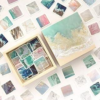 Caja con 200 stickers pegatinas decorativas para Bullet Journal manualidades (Sea)