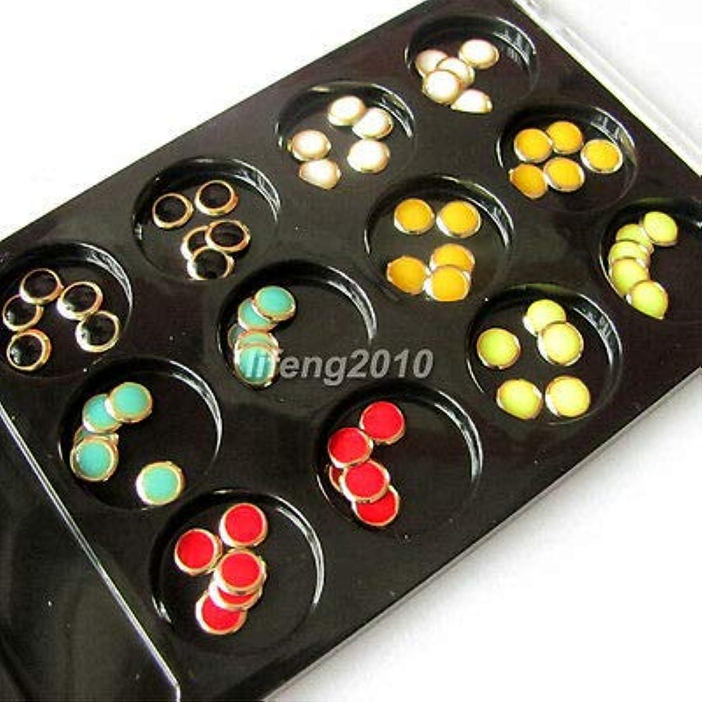 敬意エントリ震えFidgetGear 60個6色ラウンド3Dアクリルネイルアートのヒント携帯電話DIYの装飾NEW