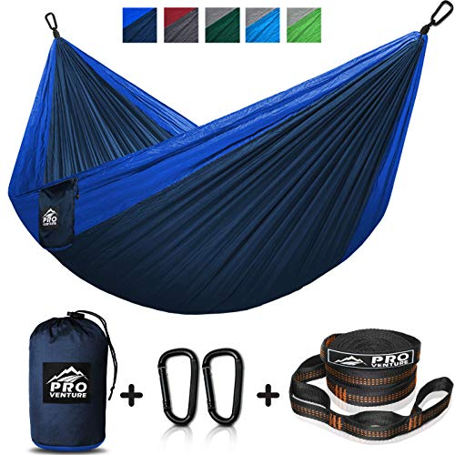 Double and Single Camping Hammocks - Hammock with Free Premium Straps & Carabiners - Lightweight and...