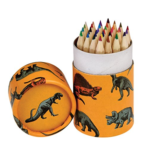Rex London Set of 36 Dinosaurs Colouring Pencils In a Tu