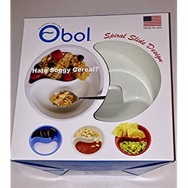 Obol - The Original Never Soggy Cereal Bowl/With The Spiral Slide Design 'n Grip - Med Ivory