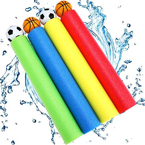 Pistole ad Acqua, joylink 4PCS Pistole ad Acqua Giocattoli Pistole Acqua per Bambini Adulti Estate Pool Spiaggia Giardino Giochi all Aperto