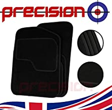 Car Mats to Fit Range Rover Evoque 2013-2019 Black Tailored Car Mats with Black Trim /& Black Double Thickness Rectangle Heel Pad