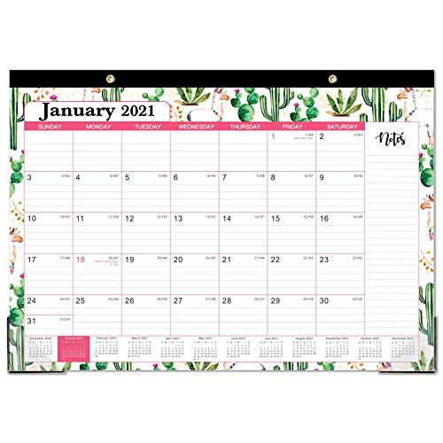"2021 Desk Calendar - Yearly Desk/Wall Calendar, 12 Months Desk Calendar, 12"" x 17"", January 2021- December 2021, Large Ruled Blocks for Planning and Organizing for Home or Office"
