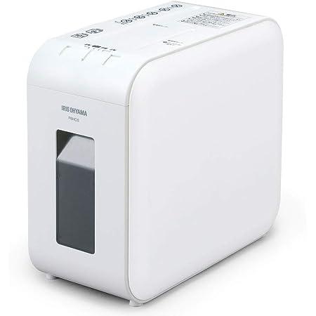アイリスオーヤマ 静音シュレッダー 超静音 家庭用 細断枚数6枚 クロスカット 連続使用10分 CD/DVD/BD細断可能 ダストボックス7.5L A4/60枚収容 P6HCS-W ホワイト