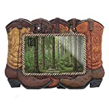 Lodge Decorated Home Accessories Photo Frame for 4x6 Picture - Western Boots