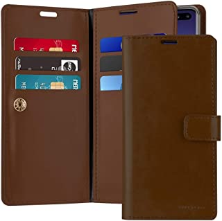 Goospery For Samsung Galaxy S10 Plus Case, Leather Wallet with Multi Pockets and Card & Cash Slot Case, Brown