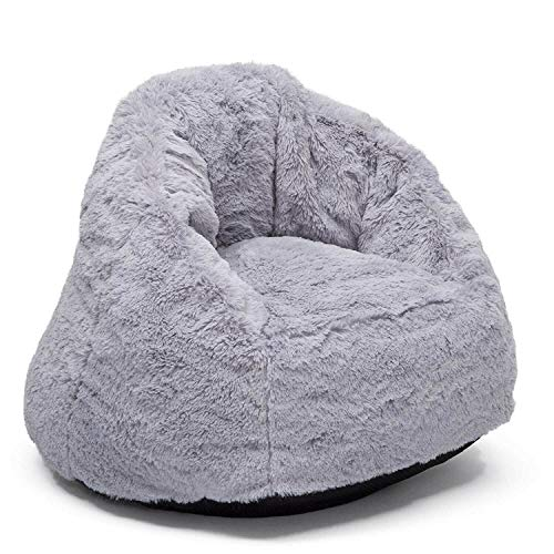u&h Sillon infantile Sofa infantile Sillon bebeSilla Infantil, Gris, Niño pequeño, cómodo puf