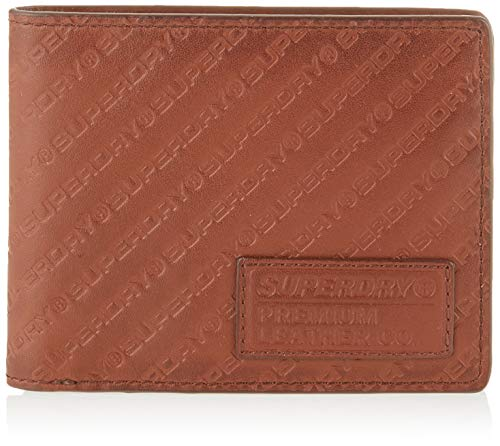 Superdry Herren AOP Badge Lineman Wallet Geldbörse Braun (Light Brown)