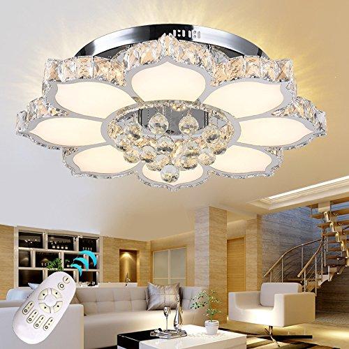 LED Deckenleuchte 3017WJ-660 132W mit Fernbedienung Lichtfarbe/Helligkeit einstellbar.dimmbar Kristall 3x5 cm. 132 watt A+