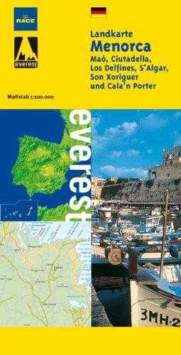 Menorca Landkarte (Alemán): Plano callejero (Mapas turísticos/ serie amarilla)