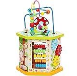 TOYSBBS Actividad de Madera Cubo 9 en 1 Juguete de Madera Educativo para niños pequeños y Juguetes (...