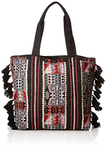 For Time Shopping Hindú, Bolso shopper étnico para Mujer, Multicolor, 36x45x13 cm