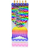 """VIPbuy Reversible Sequin Pocket Notebook Journal Top Spiral Notepad Memo Pad, 3"""" x 8.3"""", 127 Sheets, Mermaid Tail Pattern (Rainbow to Silver)"""
