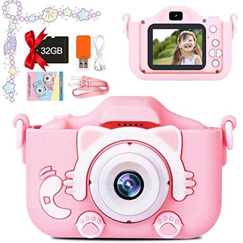 子供用 デジタルカメラ トイカメラ 子供用カメラ こどもの日 2000万画素 2インチ IPS画面 誕生日 子供プレゼント 日本語説明書付き 操作簡単 ピンク BEEWAYS