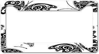 Ferreus Industries Gray Powdercoat Car Truck License Plate Frame Butterfly Butterflies Butterfly 1 Piece LIC-104-Gray