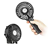 Mini Handheld Fan, EasyAcc Personal Cooling Fan with 2600mAh USB Rechargeable Battery 3-15 Working Hours Battery Fan Folding USB Desk Fan Small Portable Table Fan for Travel Office Room Household