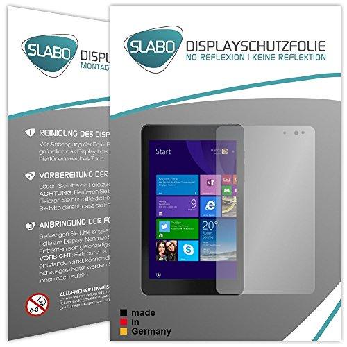 Slabo 2 x Bildschirmschutzfolie für Dell Venue 8 Pro Bildschirmschutz Schutzfolie Folie No Reflexion | Keine Reflektion MATT