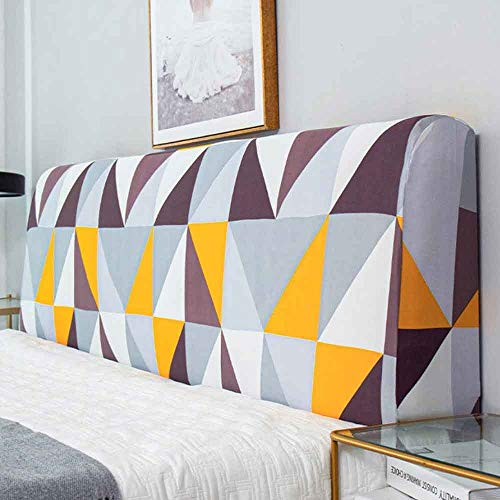 ZHICHENG Cubierta De Cabecero De Cama Elástica Lavable Protector Cubierto Prueba De Polvo Cover Prueba Dormitorio (Color : Color 4, Size : 220-240cm)