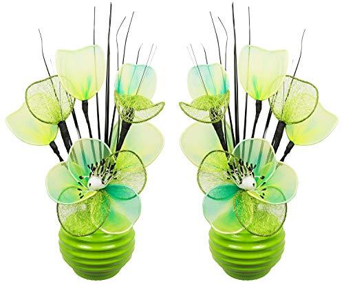 Flourish kunstbloemen in pot decoratie woning modern decoratie woonkamer, paar, 32cm,