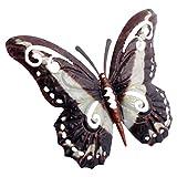 Hemoton Schmetterlinge Deko Metall Schmetterling Wandkunst Wandschmuck Gartendeko Wandbild Gartenfigur Tierfiguren für Geburtstag Hochzeit Weinachten Party Wanddeko Schwarz