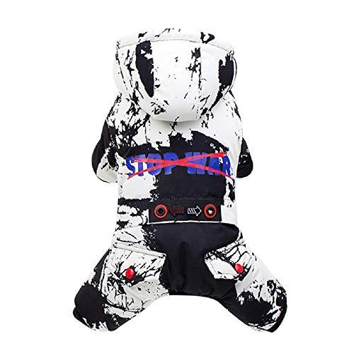 Allegorly Haustier Kleidung Hoodie Pullover Hund Katze Welpen Mantel Warme Kapuzenjacke Tarnung Baumwollmantel Wintermantel mit Kapuze Mode Overall Jumpsuit Shirt Kostüm für Kleinen Mittel Groß