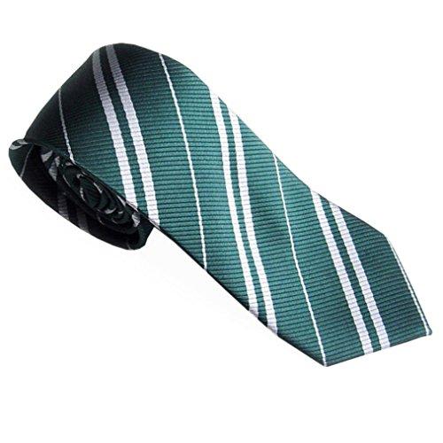 Zarupeng Herren Schmale Streifen Krawatten Seide Business Anzug Jacquard Gewebte Krawatten (One Size, Grün)