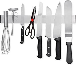 HG PowerSoporte magnético para Cuchillos 40 cm, Acero Inoxidable, Soporte para Cuchillos, El Soporte magnético de Cuchillos, Adhesivo VHB Cinta Adhesiva para Montaje en Pared