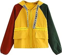Dolwins Women Hooded Zipper Sport Coat Patchwork Pockets Long Sleeve Skinsuits