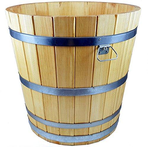 evama Hochwertiger Übertopf, Blumentopf, Holzkübel aus robustem hochwertigem Holz - in vielen Größen erhältlich (600 x 600)