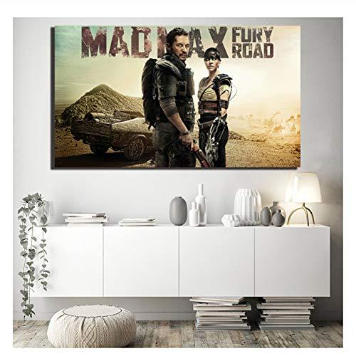 Suuyar Mad Max: Fury Road HD Tapeten Wandkunst Leinwand Poster Drucke Malerei Wandbilder Schlafzimmer Wohnkultur-50x100cm Kein Rahmen