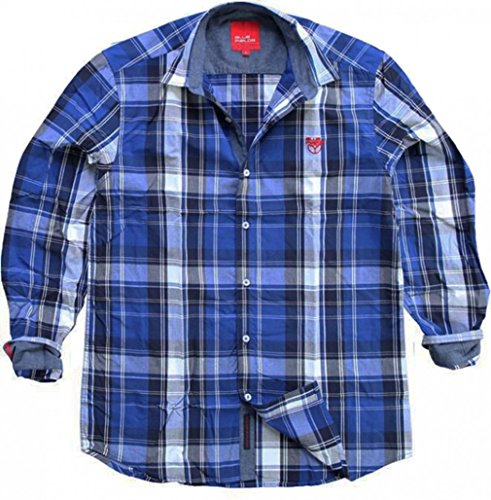 Fields of Blue - Chemise Casual - Homme - Bleu - Large