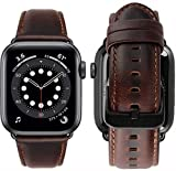 MroTech kompatibel mit Apple Watch Armband 44mm 42mm Leder Ersatzarmband für iWatch SE/Serie...