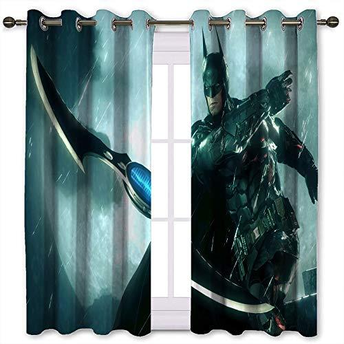 SSKJTC Cortinas bloqueadoras de calor Batman Arkham Knight Batarang con aislamiento térmico (106 x 115 cm)