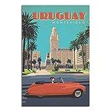 Vintage-Reise-Poster Uruguay auf Leinwand, Malerei, Poster,
