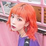 WIG MINE Harajuku aire franja peluca femenina pelo corto y rizado celebridad en línea maquillaje en ...