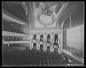 Vintography 16 x 20 Ready to Hang Canvas Wrap Detroit Michigan Temple Theatre Interior 1905 Detriot Publishing 06a