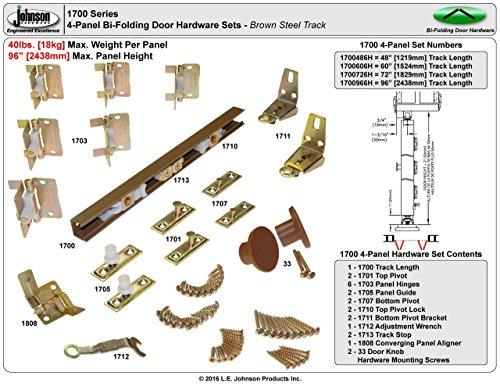 Johnson Hardware Bifold 60' 1700 Closet Door Hardware
