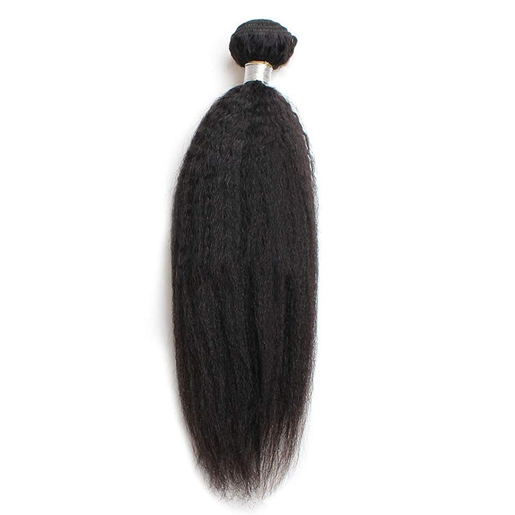 市長ポケットラケットHOHYLLYA 9Aブラジル焼きストレートバンドル人間の髪の毛100%レミーの髪織りロールプレイングかつら女性のかつら (色 : 黒, サイズ : 16 inch)