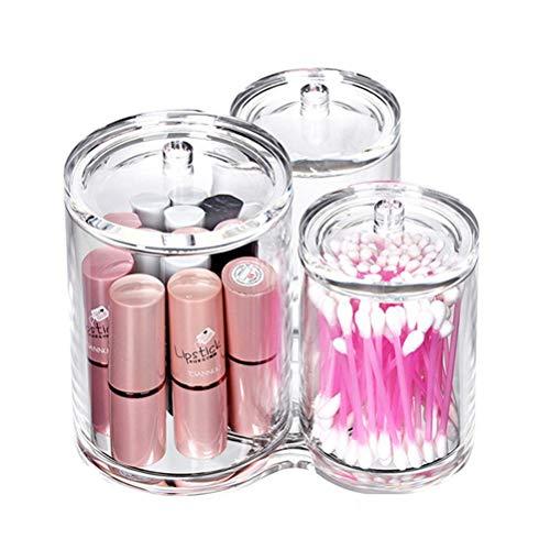 LURROSE Porte-Pinceau à Maquillage Polyvalent en Plastique Transparent avec Couvercle