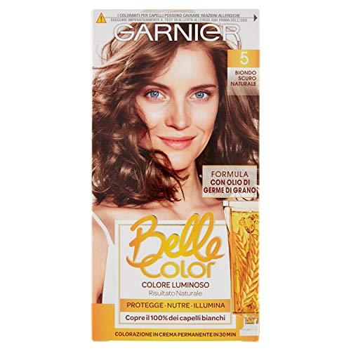 Garnier Tinta Capelli Belle Color, Colore Luminoso e Riflessi Naturali, Biondo Scuro Naturale