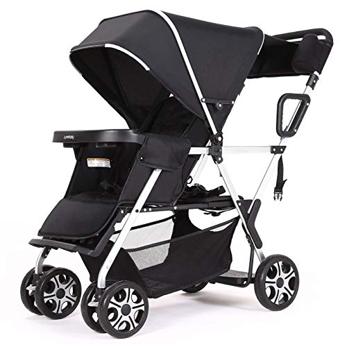 Learn More About Double Stroller Convenience Urban Twin Carriage Stroller Tandem Collapsible Strolle...